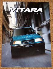 1999 SUZUKI VITARA 1.6 JX Sales Leaflet Brochure