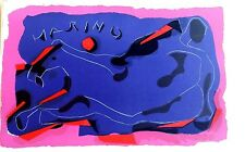 MARINO MARINI Plate Signed Lithograph Horse