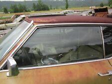 69 70 CADILLAC DEVILLE 2 DOOR LEFT DRIVER FRONT DOOR WINDOW GLASS 1969 1970