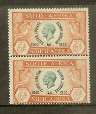 South Africa, Scott #71, 6p King George V, Pair, MH