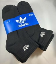 Adidas Men's 6-Pair Quarter Crew  Socks  Black   (5332)