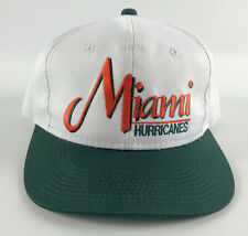 Miami Hurricanes Vintage Snapback Baseball Hat - The Game - White Green Orange