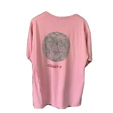 Vintage AND 1 Pink Faded Double Sided T Shirt 90s Basketball Size XLarge