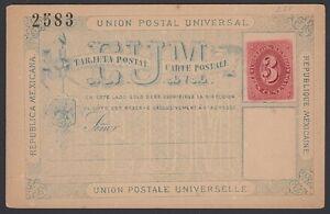 MEXICO, 1883. Post Card H&G 3a, Mint