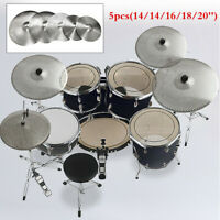 5pcs Pack Low Volume Quiet Silent Cymbal with Cymbal Bag Silver
