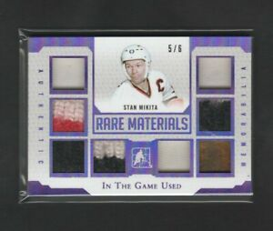 2016-17 Leaf In The Game Used Rare Materials Stan Mikita 5/6 Glove Patch