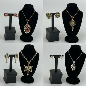 Kyles Collection Wedding Bridal Rhinestone Crystal Necklace Earring Jewelry Set