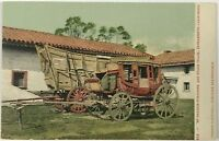 Postcard Sacramento CA Prairie Schooner Stage Coach California Undivided 1900's