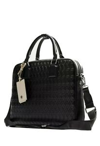 Zara Black Briefcase With Raised Embossing - Luggage tag missing