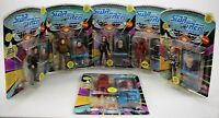 STAR TREK: THE NEXT GENERATION Action Figures Lot of 6 Sealed MOP Playmates 1993
