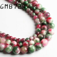 Natural Stone Mixed Color Persian Jade Round Loose Beads 6/8/10MM For Jewelry