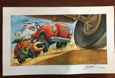 Hot Rod Hamster Print Poster by Derek Anderson Signed 2009