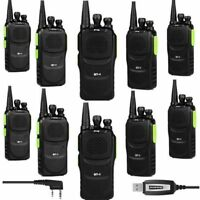 10x Baofeng GT-1 400-470MHz 5W FM Two-way Ham Radio Walkie Talkie +Program Cable