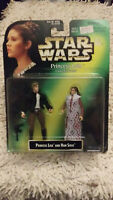 STAR WARS PRINCESS LEIA & HAN SOLO ACTION FIGURE SET