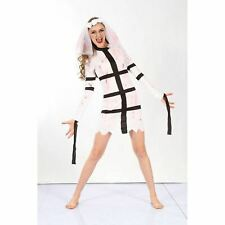 WOMEN'S BLOODY HORROR BRIDE COSTUME FANCY PARTY DRESS LADIES HALLOWEEN OUTFIT