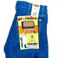 Wrangler Mens Jeans Cowboy Cut Original Fit 13MWZ PW PreWash Blue Denim Boot Cut