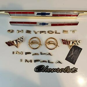 1964 Chevrolet Impala 24kt Gold Plated Emblem Kit