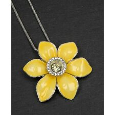 Equilibrium 274410 - SILVER PLATED FLOWER PENDANT NECKLACE - Daffodil Flower