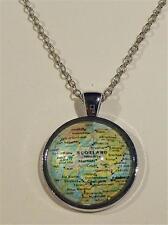 RHODIUM PLATED PENDANT NECKLACE - MAP OF SCOTLAND - FREE UK P&P.......CG1108