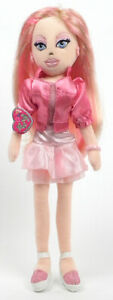 """PRETTY PATTI TY GIRLZ 1 PINK HAIRED 14"""" PLUSH GIRL DOLL NEW IN ORIGINAL PACKAGE"""