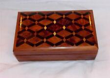 FAIR TRADE THUYA WOOD DELUXE LARGE HAND MADE JEWELLERY BOX  MARRAKESH MOROCCO
