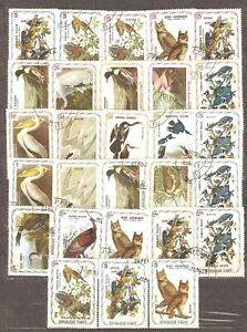 Haiti: selection of 28 used CTO stamps, birds, 1975,