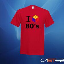 Camiseta i love 80 cubo años 80 (ENVIO 24/48h) VARIOS COLORES