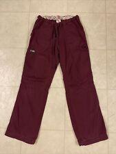 Koi Lindsey Cargo Scrub Pants Wine Xs
