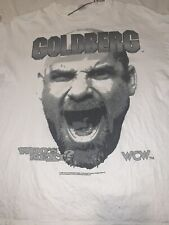 WWE WWF WCW Bill Goldberg White Used T-shirt Vintage Rare From 1998 Size XL