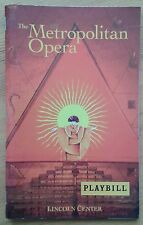 Die Zauberflote Playbill programme Lincoln Center 10/2004 The Metropolitan Opera