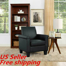 Room Arm Chairs Single Sofa Chair, Black Leather Accent Chairs For Living Room