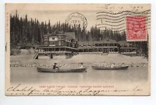 CANADA carte postale ancienne LAKE LOUISE CHALET LAGGAN