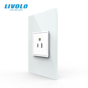 LIVOLO US Standard Wall Power 15A Socket Outlet Home Use Crystal Glass Panel