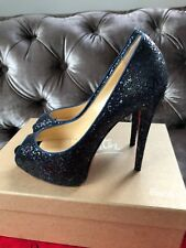 Christian Louboutin Hyper prive 120 Azul marino Multi Brillo Tacones UK 5.5 EU 38.5