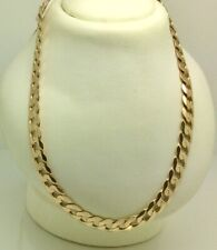 "9ct Gold 21"" solid flat curb chain"