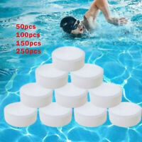 50~250X Multifunctional White Chlorine Tablets for Tub Swimming Pool Spa Clean