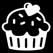 CUPCAKE Vinyl Decal Sticker Car Window Wall Bumper Kitty Cute Girly Hello Funny
