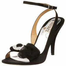 Badgley Mischka DYLAN evening social satin sandal ankle strap BOW shoes 6,5