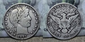 1897 P Barber Half Dollar 50c