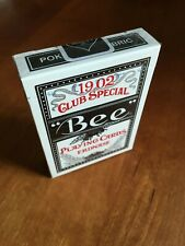 Bee Erdnase Black Acorn Back Playing Card Deck by CARC; Cambric Finish; New