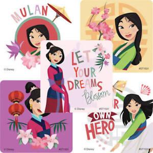 20  Disney  Mulan  Stickers Party Favors princess teacher supply