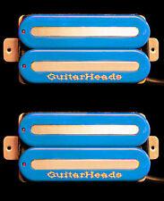 Guitar Parts GUITARHEADS PICKUPS MEGAMETAL HUMBUCKER - Bridge Neck SET 2 - BLUE