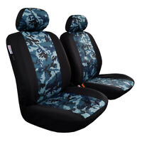 Black Camouflage Car Seat Covers Front Set For Subaru Outback