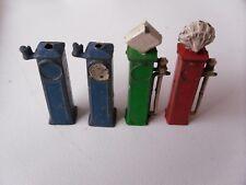 Diecast Petrol Pumps x4   Crescent,Johil,Charbans,Britains ?
