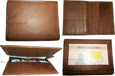 4 Leather business card credit card case ID card ATM card case card holder BNWT