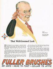 1920's BIG Old Vintage Fuller Brushes Clothes Brush Old Man Art Print Ad