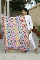 Indian Women Embroidery Dupatta Sarong Wrap Hijab Shawl Stole Head Neck Scarves