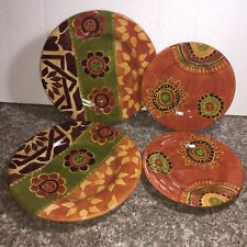 4 TABLETOPS GALLERY Rio Round Dinner & Salad Plates Bright Rust (A23)