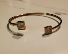 Steel Glitz Cuff Bracelet Fossil Rose Gold Stainless