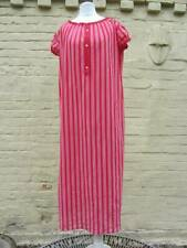 vintage nightdress 60's nylon red striped costume medium
